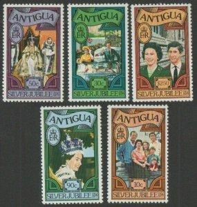 1977 Antigua 453-457 25 years of the coronation of Elizabeth II