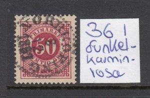 Norway #48 DEEP CARMINE Grade 90 (USED) PSE Certificate SUPER NICE