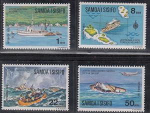 Samoa, Sc # 415-16, 418-19, MNH, 1975