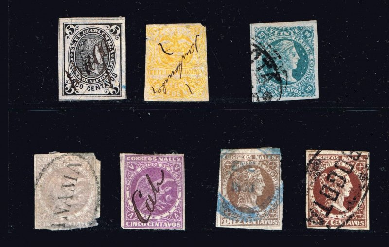 COLUMBIA STAMP USED STAMP COLLECTION LOT #2