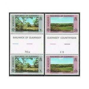 Guernsey 147-148 gutter,MNH.Michel 147-148. EUROPE CEPT-1977:Talbots Valley,