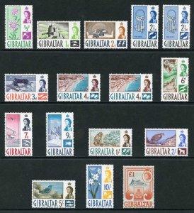 Gibraltar SG160/73 1960 Set of 14 lightly M/Mint plus shades
