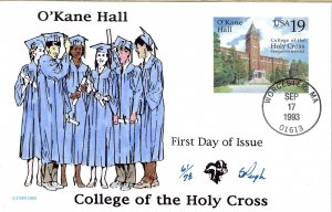 Pugh Designed/Painted College of the Holy Cross FDC...61 of 78 created!