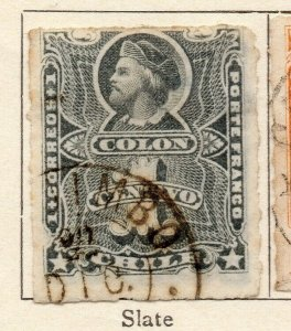 Chile 1877 Early Issue Fine Used 1c. NW-11395