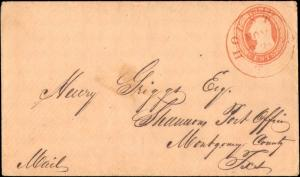 TEXAS HARRIS CTY (1850's Houston) (Nesbitt Seal on B/S) (46)