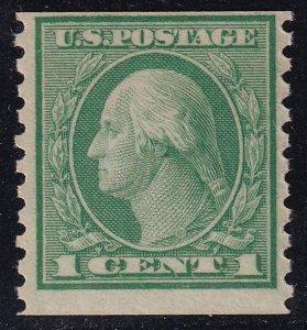 US STAMP #490 – 1916 1c Washington, green coil MNH/OG