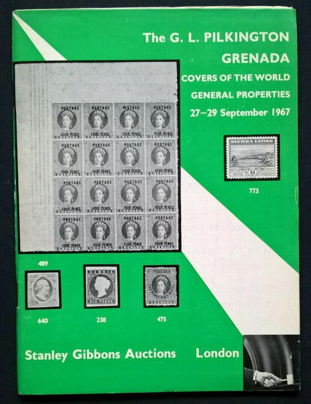 Auction Catalogue GL PILKINGTON GRENADA Collection Specialised Stanley Gibbons