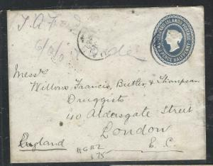 LEEWARD ISLANDS  (P1104B)  QV 2 1/2D H&G B2 1898  TO LONDON