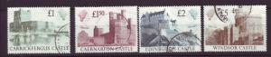 J19710 Jlstamps 1988 great britain set used #1230-3 castles
