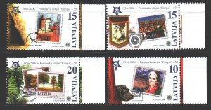 Latvia. 2006. 652-55. Stamps on stamps Europe CEPT. MNH.