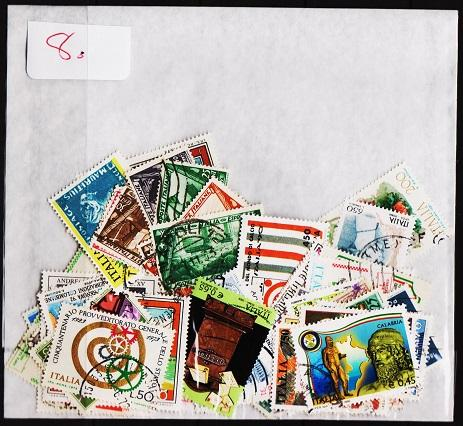 Italy. Mixture. 100 Stamps. May be some dupliication. Used