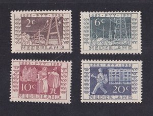 Netherlands   #336-339  MH  1952    Stamp ITEP centenary /  telegraph services