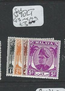 MALAYA SELANGOR (P1208B) SG90-1, 93-4    MOG