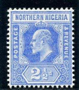 Northern Nigeria 1910 KEVII 2½d blue superb MNH. SG 31. Sc 31.
