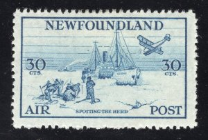Newfoundland #C15 30c, Blue - Unused - Original Gum - L.H.