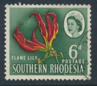 Southern Rhodesia  SG 97 SC# 100   Used Flame Lily