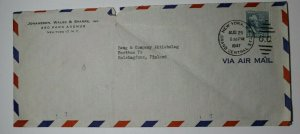 US Perfin JWS Johaneson Wales & Sparre Airmail Cover Used Sc# 820 To Finland