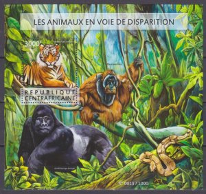 2015 Central African Republic 5654/B1352 Cats - Tiger 14,00 €