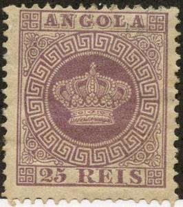 Angola, Scott #12, Unused, Hinged