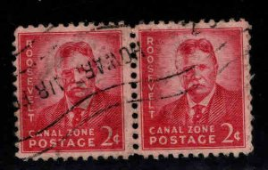 Canal Zone Scott 138 used pair