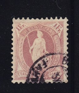 Switzerland Scott # 87b VF used neat cancel nice color scv $ 350 ! see pic !