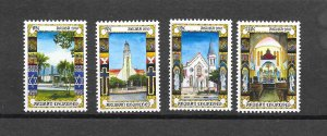 ARUBA #369a-d  CHURCHES  MNH
