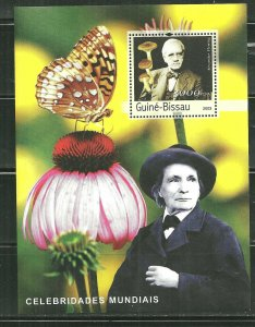 Guinea-Bissau MNH S/S  Butterfly & Flower