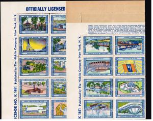 US STAMP US 1939 NY World's Fair Poster Stamp Complete Sheet of 54 MNH FRESH~!