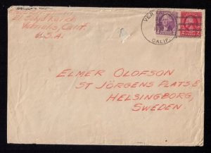 US Sc #634f,721 Lake Type I,Postal History Cover El Solyo Ranch Cat. $1.250.00