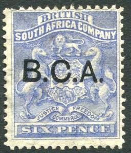 BRITISH CENTRAL AFRICA-1891-95 6d Ultramarine Sg 4 AVERAGE MOUNTED MINT V25780