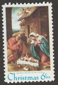 US 1414 Christmas Nativity 6c single (1 stamp) MNH 1970