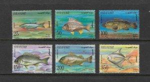 FISH - KUWAIT #1362-67  MNH