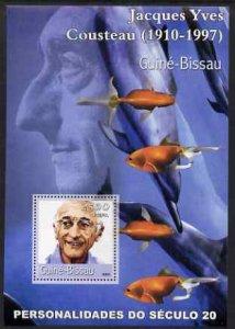 Guinea-Bissau MNH S/S Jacques Cousteau & Fish 2001