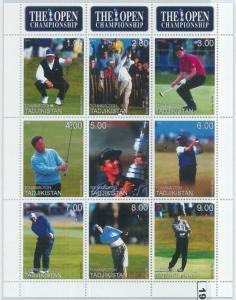 1954 - TURKMENISTAN, 1999 MINIATURE SHEET: The Open Championship, Golf, G Norman