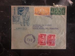 1939 Tegucigalpa  Honduras Commercial Bookstore Cover To Buenos Aires Argentina