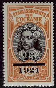 French Polynesia Sc #59 Mint F-VF...Polynesia is Unique!