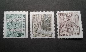 South Korea #582-584 MNH ~1810