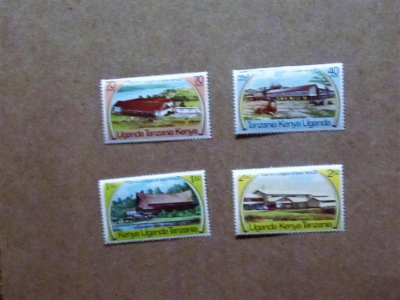 Kenya, Uganda and Tanzania - 300-03, MNH Set. Wildlife Lodge. SCV - $1.60