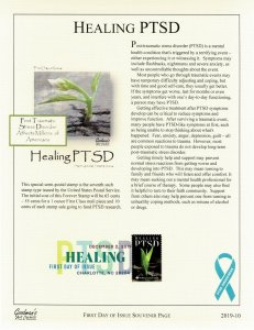 Goodman's Art Cachet B-7 Healing PTSD Souvenir Page Digital Color Cancel