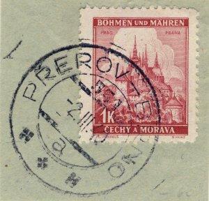 BÖHMEN u. MAHREN - 1940  PŘEROV - BRNO * * *  TPO n°531a CDS on Mi.28