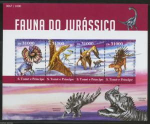 SAO TOME  2015 FAUNA OF THE JURASSIC ERA  SHEET MINT   NH