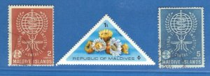 MALDIVE ISLANDS SC# 87+89+557 **USED& MH**1962+65    SEE SCAN
