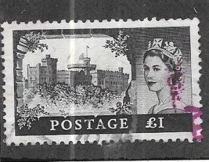 GB #374   £1 Queen Elizabeth Castle issue  (U) CV $6.00