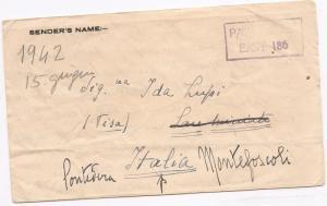 Kenya Uganda & Tang E Africa 1942 WWII POW mail to Italy (bal)