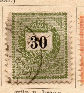 Hungary 1888-98 Early Issue Fine Used 30k. NW-08847