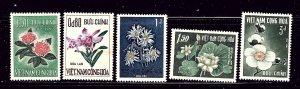 South Vietnam 261-65 MH 1965 Flowers