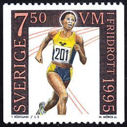 Sweden # 2137 mnh ~ 7.50k Runner - Maria Akrahk
