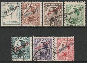 Spain Sc 449-455 set used