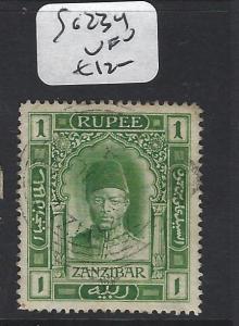 ZANZIBAR  (PP0809B) SULTAN 1R  SG 234   VFU