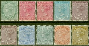 Bermuda 1883-1904 Extended set of 10 SG21-29b Fine Lightly Mtd MInt